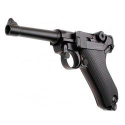"Pistola P08 4"" BLACK GBB WE"