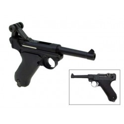 "Pistola P08 4"" BLACK GBB WE"