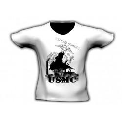 Camiseta manga corta USMC Blanca