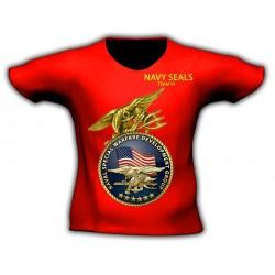 Camiseta manga corta SEAL TEAM SIX Roja