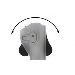 Adaptador Molle para pistolera y portacargador FDE