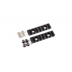 Ris Dytac UXR 3 & 3.1 Two-Hole Picatinny Rail Section Negro (Pack of 2)