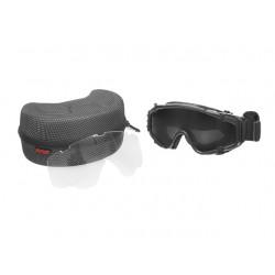 Gafa de protección negra con ventilador
