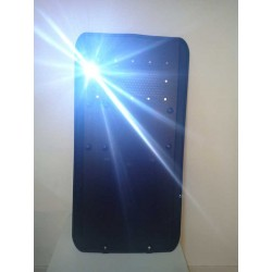 Escudo antidisturbios aluminio con linterna LED
