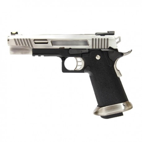 PISTOLA WE HI-CAPA 5.1 REX LONG FULL METAL PLATA