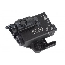 G&P compact dual Laser and Infrared Designator Black